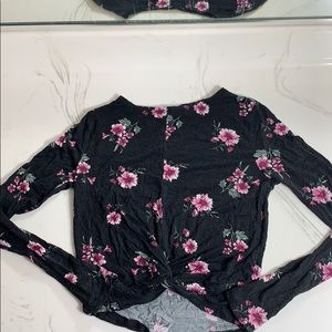 Black Ivy&Main pink floral top from Tillys
